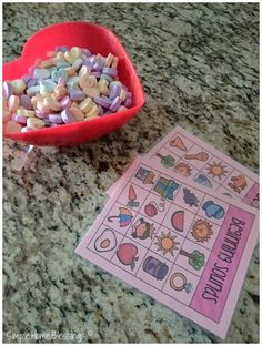 15 ideas activity ideas for tots using Conversation Hearts