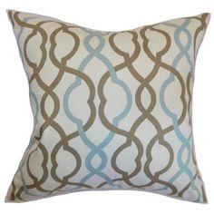 """The Pillow Collection Adiyaman Moorish Geometric Cotton Throw Pillow Size: 24"""" x 24"""""""