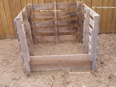 pallet+garden+compost+bin   basically the old bin was a two bin system one side held compost that ...