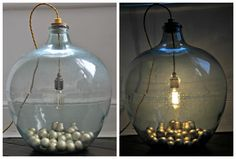 A fantastic upcycling DIY project or how to transform an old carboy onto a stylish lamp.