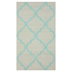 Flatweave wool rug with a Moroccan trellis motif. Made in India.  Product: RugConstruction Material: WoolColor: BlueFeatures:  FlatweaveMade in India Note: Please be aware that actual colors may vary from those shown on your screen. Accent rugs may also not show the entire pattern that the corresponding area rugs have.Cleaning and Care: Spot clean
