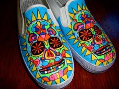 painted shoes,  who ever would have thought of that?