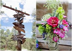 DIY Wedding In The Woods - Rustic Wedding Chic