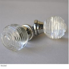 Ring Cut Clear Glass Cabinet Knob