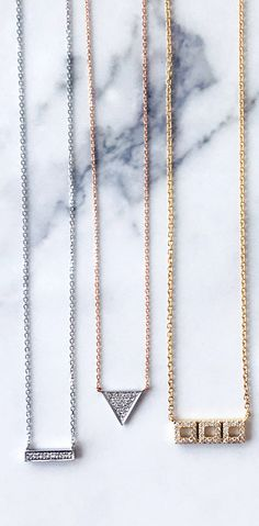 Beautiful mini diamond necklaces! FREE 2 day shipping on all orders placed before 2PM Dec 22 to receive by Dec 24.