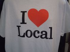 I HEART Local Unisex Tshirt with In  S M L and by ILUVWinterPark, $20.00. #iluvwinterpark