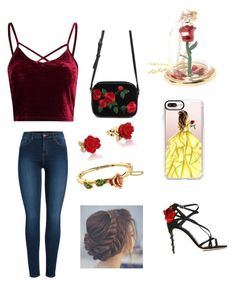 """""""Belle of the Ball"""" by cowboygal ❤ liked on Polyvore featuring Forever 21, Disney, Casetify, Dolce&Gabbana and Pieces"""