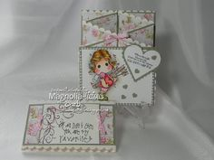 "Concertina Card using Love Due ""You are my Valentine"""