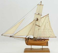Photos of ship model English cutter FLY. The FLY was bought by the Royal Navy in The model was made to plans by the Admiralty that are kept by the National Maritime Museum in Greenwich. Wooden Ship Model Kits, Maritime Museum, East Germany, Boat Building, Model Ships, Royal Navy, Sailing Ships, Nautical, Wood