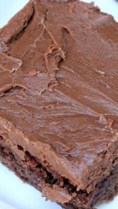 Lunch Lady Frosted Brownies ~ Simple and delectable... Says: They really were served in a school cafeteria. This recipe is over 50 years old & comes from a small town in Idaho