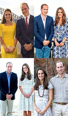 The Duke and Duchess of Cambridge during their Australian Tour 2014