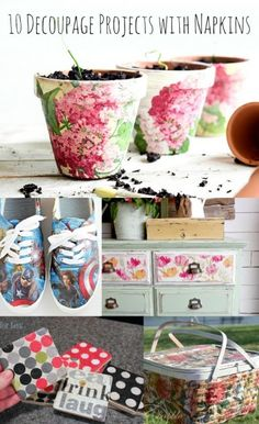 10 decoupage ideas with napkins