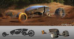 ArtStation - Reconnaissance vehicle design, Chris Bonura