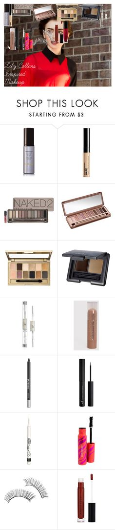 """""""Lily Collins Inspired Makeup"""" by oroartye-1 on Polyvore featuring beauty, Hourglass Cosmetics, Bare Escentuals, Urban Decay, Maybelline, e.l.f., Forever 21, Rimmel, Anastasia Beverly Hills and Wet n Wild"""