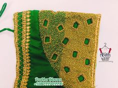 Mirror Work Saree Blouse, Cut Work Blouse, Aari Work Blouse, Embroidery Blouses, Simple Embroidery, Simple Blouse Designs, Bridal Blouse Designs, Maggam Work Designs, Pattu Saree Blouse Designs