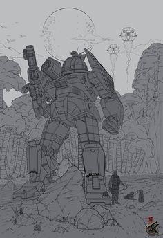 Mechwarrior Fanart / Lineart by SKILLZ001