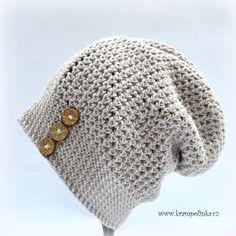 Homeleska Perla: podzimní a jarní kousek i pro dospělé – Krampolínka Knit Crochet, Crochet Hats, Cowl, Knitted Hats, Diy And Crafts, Homemade, Knitting, Creative, Pattern