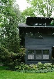 Image Result For Dark Green House With Black Trim