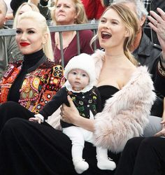 Gwen Stefani, Behati Prinsloo and Dusty Rose Levine