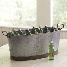 Pin for Later: 18 Food and Drink Essentials For June Galvanized Beverage Tub