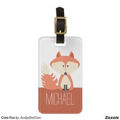 Cute Fox Travel Bag Tag - My Brother would love this!!!