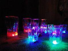 Vasos Luminosos Pack de tres modelos y tamaños diferentes. $40 los 3 unidades.