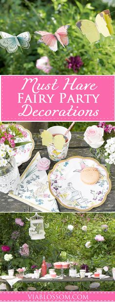 Must Have Fairy Party Supplies You will fall in love with the magic of our Fairy Party Ideas and Decorations! All the Fairy Party Supplies you will need for a whimsical Fairy Party! Fairy Birthday Party, Birthday Party Themes, Birthday Ideas, 9th Birthday, Girl Birthday, Happy Birthday, Fairy Tea Parties, Tea Party, Garden Parties