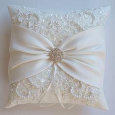 Boda almohada cojín de la boda encaje almohada encaje