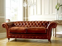 Roseberry Brown Chesterfield Sofa | The English Sofa Company