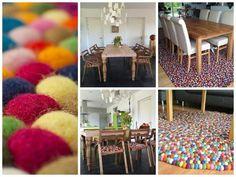 #FilzKugelTeppiche können nicht nur im Wohn- oder Schlafzimmer gut aussehen. Unsere #Küche können toll damit dekoriert werden. Wir finden es eine klasse Idee und sind bereit, deinen #Teppich fertigzustellen!