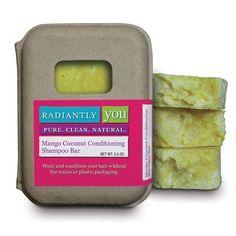 All natural Mango Coconut Conditioning Shampoo Bar! Yummy smelling, great lather!   www.radiantlyyou.com/nikkid