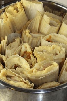 traditional Mexican tamale filled with beans and cheese, some with potatoes, mole and cheese, and steamed in your Instant Pot in 30 minutes! Mexican Food Recipes, Beef Recipes, Cooking Recipes, Mexican Meals, Mexican Dishes, Yummy Recipes, Crockpot Recepies, Mexican Cooking, Pico De Gallo