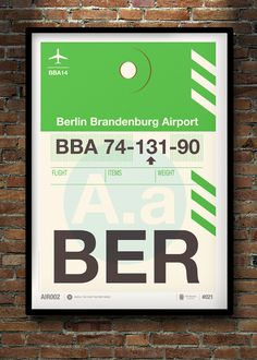 Image of Flight Tag Prints - Berlin