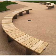 45 Best DIY Outdoor Bench Ideas for Seating in The Garden Gallery of eye-catching outdoor bench ideas. An outdoors bench can be a terrific means to appreciate your backyard fire pit patio area deck or garden location Curved Outdoor Benches, Curved Patio, Curved Bench, Outdoor Fire, Outdoor Seating, Outdoor Wood Bench, Curved Wood, Wood Benches, Painted Benches
