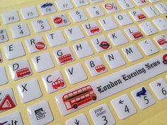 London bus Keyboard sticker car sticker London by StickersKingdom