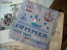 Cross Stitch Pattern  Eliza Wood 1717  di IlmondodiAnniexxx, €10.00