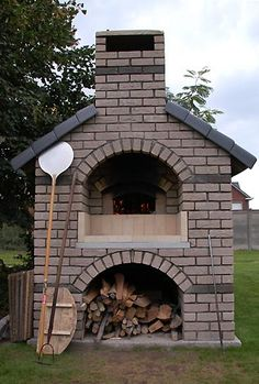 Wood-burning ovens are amazing for authentic tasting pizza!