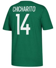 0200e605c30 adidas Men s Chicharito Mexico National Team Jersey Hook Player T-Shirt -  Green S