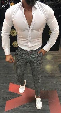 Macondoo Mens Fashion Long Sleeve Floral Print Striped Lapel Neck Button Down Shirts