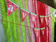 Incredible backdrop at a watermelon party! See more party ideas at CatchMyParty.com! #partyideas #watermelon