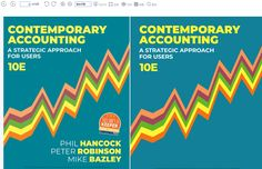 name:[ebook] Contemporary Accounting: A Strategic Approach for Users edition by Phil Hancock edition author:by Phil Hancock, Peter Robinson, Mike Bazley type:Ebook Format: TURE PDF Peter Robinson, Contacts Online, Accounting, Pdf, Author, Contemporary, Type, Business Accounting, Writers