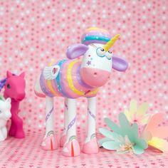 Sparkles the Unicorn Shaun the Sheep Figurine
