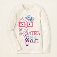 cute nerd graphic tee  I would love this for Traylor, but she is in jr's now not girl's. :(