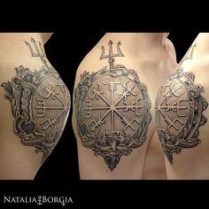 Viking compass by Natalia Borgia