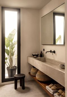Home Inspiration: est living casa cook kos annabell kutucu michael s. - Home Inspiration: est living casa cook kos annabell kutucu michael s… - Casa Cook Hotel, Natural Home Decor, Natural Homes, Bathroom Inspiration, Bathroom Ideas, Bathroom Taps, Concrete Bathroom, Bathroom Lighting, Concrete Wood