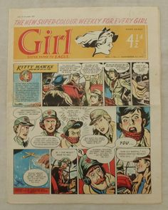Comics Girls, Every Girl, Dandy, Sisters, British, Kitty, Baseball Cards, Art, Little Kitty