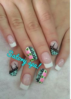 Lace Nails, Floral Nail Art, Nail Arts, Nail Designs, Hair Beauty, Nail Ideas, Personality, Roses, Nail Art