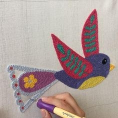 Hook Punch, Weaving Wall Hanging, Punch Needle Patterns, Punch Art, Rug Hooking, Cross Stitch Embroidery, Fiber Art, Lana, Needlework