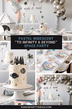 Boys First Birthday Party Ideas, Party Themes For Boys, 1st Boy Birthday, 3rd Birthday Parties, Birthday Party Decorations, Space Party, Pastel, Baby Shower, First Birthdays