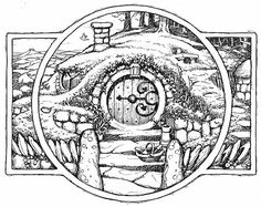 I love David Wyatt's illustrations for Tolkien. One day I might think about getting this as a tattoo!